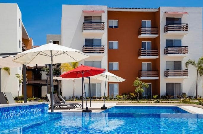 For Rent Long Term Beautiful Brand New Condominium with Panoramic Views in Azulejos Riviera Living Nuevo Vallarta Area.